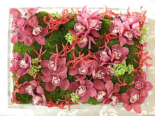 Check out this gorgeous Orchid Box arrangement by Preston Bailey