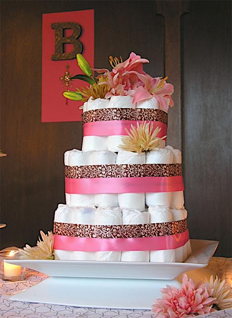 Modern diaper cake