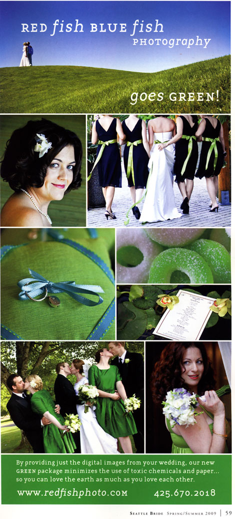 I was delighted to find out that they now have green wedding services that
