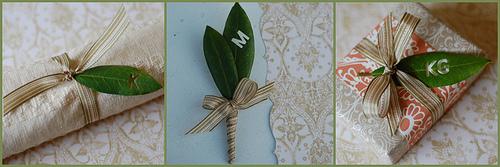Monogram leaves