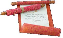 Scroll_idea for invite or loveletter