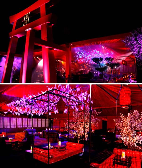 Lotushaus Hollywood Style Japanese Theme Emmy Party
