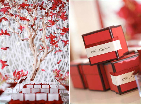 Check out this fantastic red white and butterfly wedding from