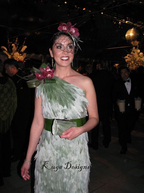 Retro Glam Silver dress Bouquets to Art 2009 Kuga Designs