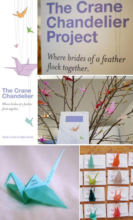 Origamicrane-chandelier