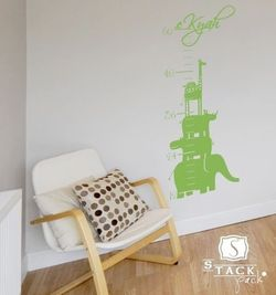 Wall decal_animalchart_singlestonestudio_etsy