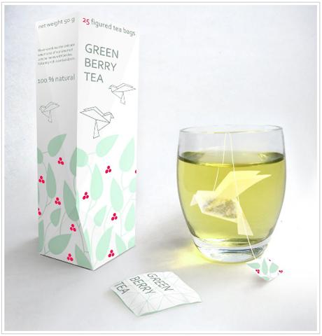 Origami tea bag