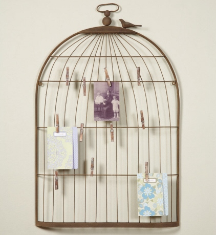 Birdcage memo board