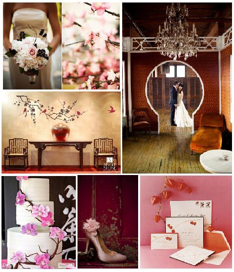 Cherry-Blossom board by smitten weddings
