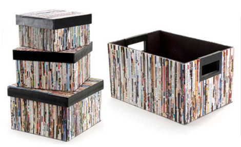 High Quality Give Your Magazines A Home They Will Love! Use These Stylinu0027 Boxes Made  With Recycled Magazine Pages. Buy Them Here For Only $15 $30.