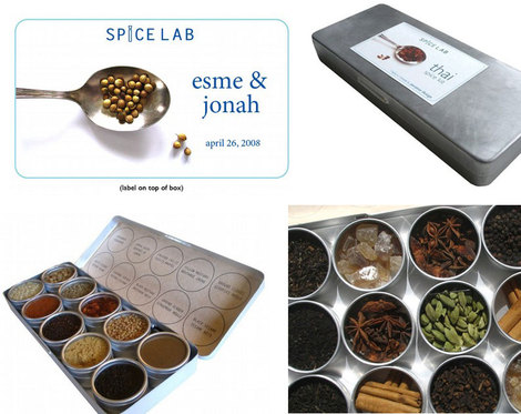 Here 39s an idea for a global modern wedding favor customized spice kits by